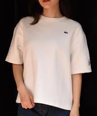 LACOSTE/ vintage logo white shirt.
