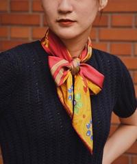 CELINE/ vintage  silk100% scarf.