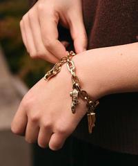 Salvatore Ferragamo/vintage shoes motif bracelet.