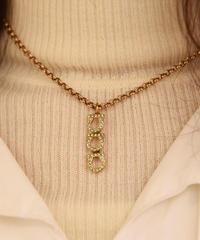 Salvatore Ferragamo / vintage gantini gold necklace.(M)