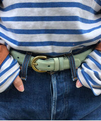 old coach/ springs design leather belt. 417014A