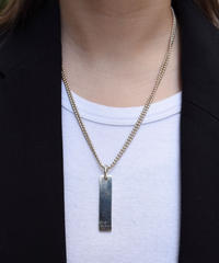 GUCCI/vintage logo plate ball  chain necklace.
