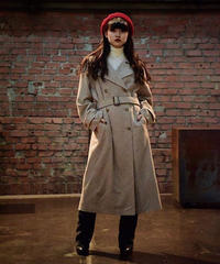 agnes b./wool trench coat.