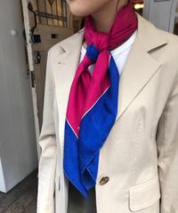 Cartier / vintage  bi-color silk scarf. 507008H