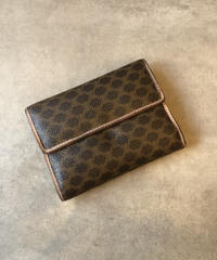 CELINE /vintage macadam design  wallet