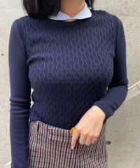 miu miu / vintage see through collar knit tops.