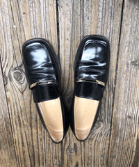 GUCCI/vintage patent leather square  loafer(BLK).5040012C