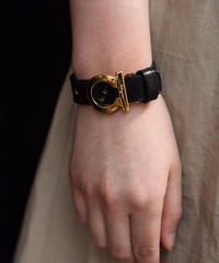 Salvatore Ferragamo/vintage gancini belt bracelet.