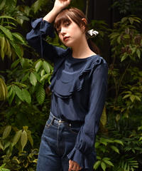 See by Chloe/ vintage frilled silk blouse.