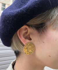 Christian Dior/vintage round CD logo design earring.423015H(S)
