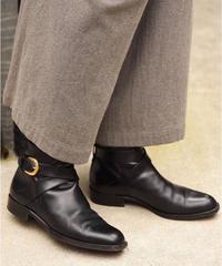 BALLY / vintage black leather short boots.(U)