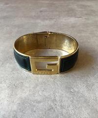 "GUCCI/vintage ""G"" logo bracelet.(S)"