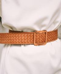 BOTTEGA VENETA/ mesh leather belt.