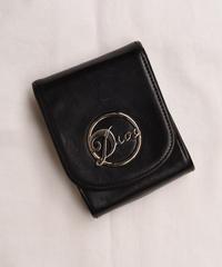 Christian Dior/silver logo cigarette case.