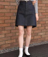 A.P.C/ vintage trapezoidal denim skirt.