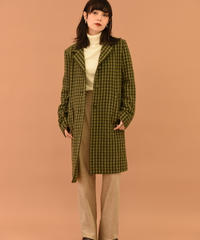 agnes.b   /shepherd check coat. (U)