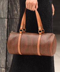 ETRO / vintage paisley cylinder handbag. (U)