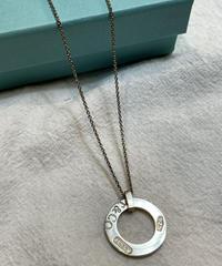 Tiffany&Co. / vintage 1837 circle silver necklace.