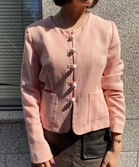MOSCHINO / vintage walnut button babypink jacket.(U)