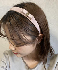 Salvatore Ferragamo/vara ribbon narrow headband (pink×silver). 428006H