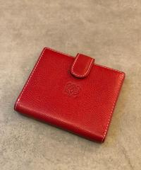 LOEWE/red logo vintage wallet.