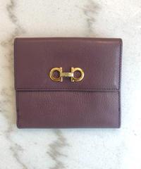 Salvatore Ferragamo/gantini gold buckle  wallet.