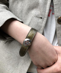 Louis Vuitton/vintage flower motif leather belt . 501017H