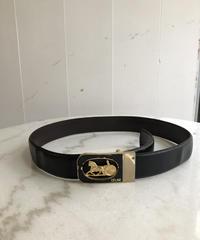 CELINE /horse motif logo design belt. (BLACK) 417004A(U)