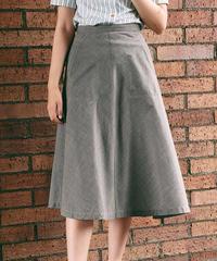 COMME de GARÇONS /Plaid flare skirt