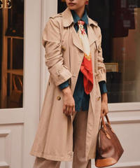 MaxMara/ vintage design trench coat./