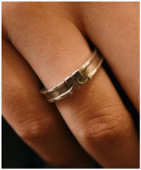 courreges/silver 925 logo motif ring.