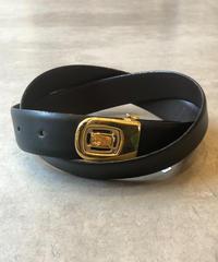 Christian Dior/ vintage gold logo belt.(S)