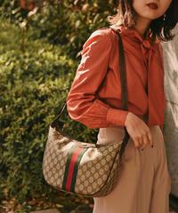 GUCCI/ sherry line monogram shoulder bag.