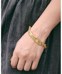 Valentino/gold plate chain bracelet