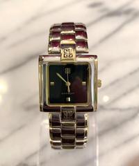GIVENCHY/vintage 4G logo square silver quartz.(P)