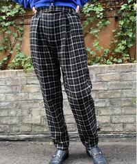 Chloe/ vintage check belt pants.