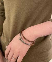 HERMES/ vintage 2way jumbo bracelet.