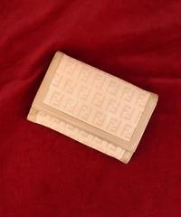 FENDI /vintage zukka design wallet.