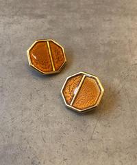 Yves Saint Laurent/ vintage  gold ×orange earring