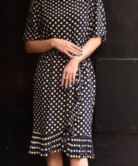 Givenchy / vintage dot pattern wrapped design dress.