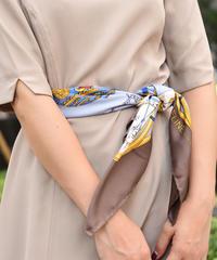 CELINE/ 100%silk scarf ( brown)