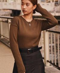 JIL SANDER / vintage brown knit.