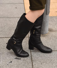 Max Mara /vintage leather belt long boots.