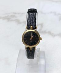 GUCCI/ vintage gold×black quartz .039