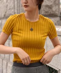 Salvatore Ferragamo / front gantini motif yellow knit.
