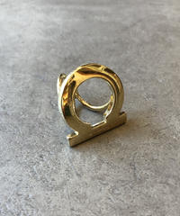 Salvatore Ferragamo /gold gantini scarf ring