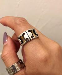 CELINE / macadam design vintage ring.