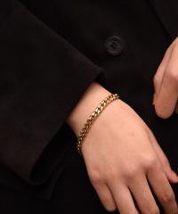GIVENCHY/ vintage twist wide chain  bracelet.(U)7