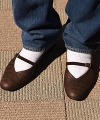 Salvatore Ferragamo/vintage 'Audrey' strap shoes.