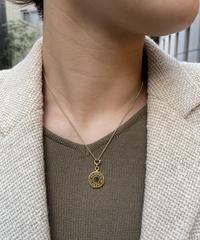 HERMES/ vintage selier gold necklace.(O)1